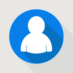 user blue icon member or service