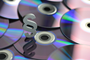 Medienrecht, Urheberrecht, Raubkopien, Copyright, Paragraph