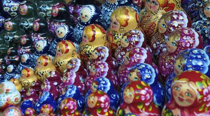 Traditional russian matrioska dolls