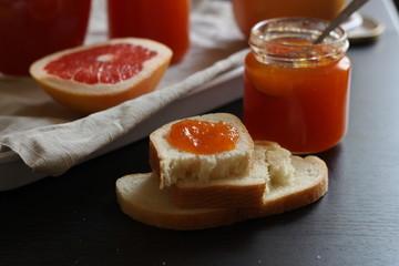 Конфитюр грейпфрутовый, цитрусовый