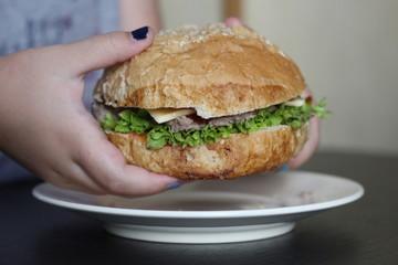 Гамбургер с зеленью