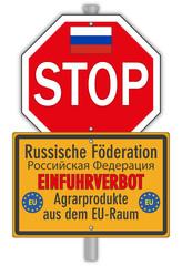 Schild Russland Einfuhrverbot