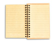 recycle brown paper notebook isolated on white background with c