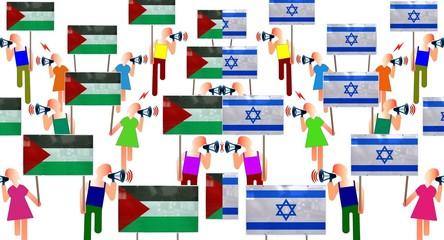 Manifs pro-Palestine et pro-Israël