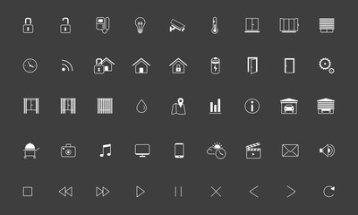 Home automation, Smart home  icon set, Vector images