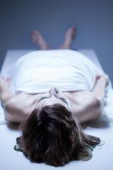 Dead body of woman