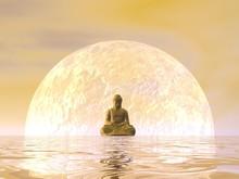 Bouddha Méditation - 3D render