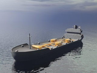 Tanker ship - 3D render