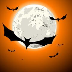 bats halloween background