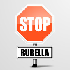 red rubella Stop Sign