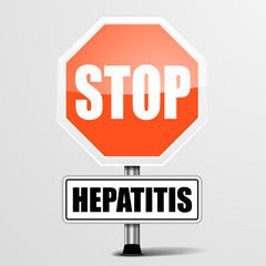 red hepatitis Stop Sign