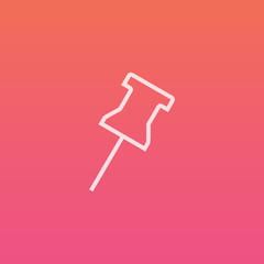 Pin  - Finely crafted line icons
