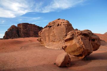 Wild landscape of Wadi Rum Jordan
