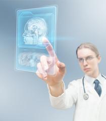 Doctor using MRI