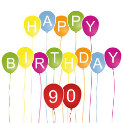 Happy Birthday Karte 90