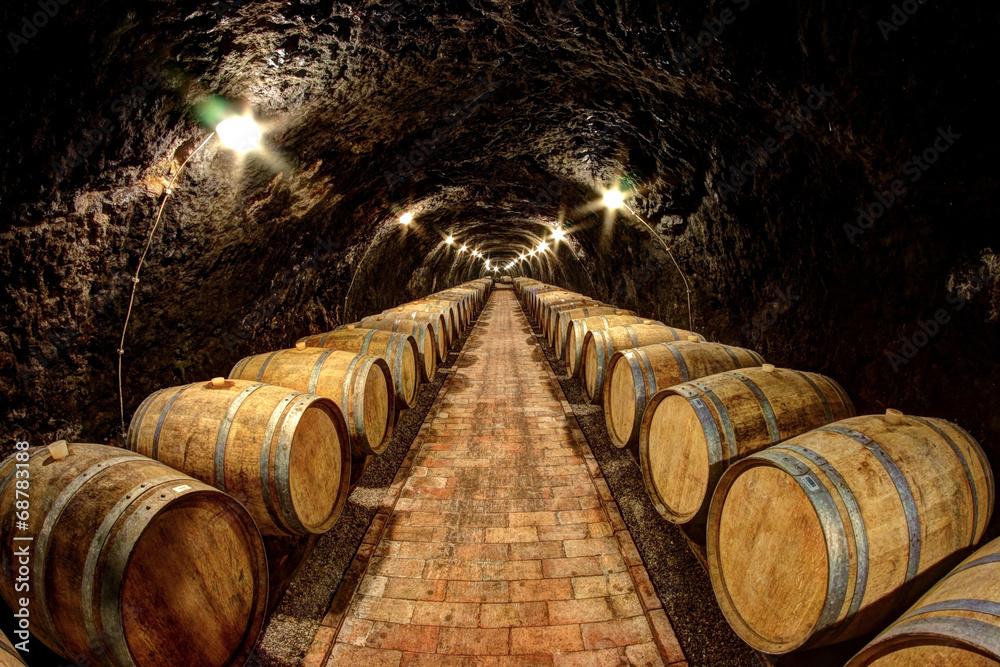 Wall Murals Wine Cellar In Tokaj Hungary Nikkel Art