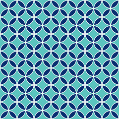 Seamless Intersecting Geometric Circle Pattern