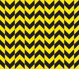 Seamless offset warning chevron stripes texture