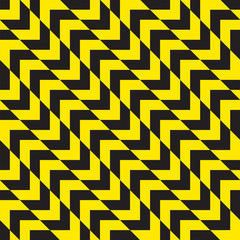 Seamless diagonal warning chevron stripes texture