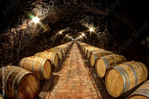 Wine cellar in Tokaj, Hungary