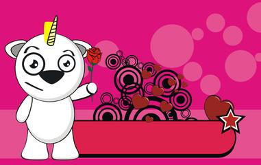 unicorn baby cute cartoon background7