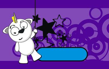 unicorn baby cute cartoon background5