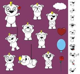 unicorn baby cute cartoon set