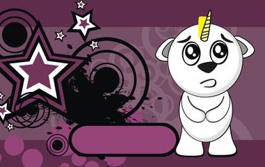 unicorn baby cute cartoon background4