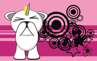 unicorn baby cute cartoon background9