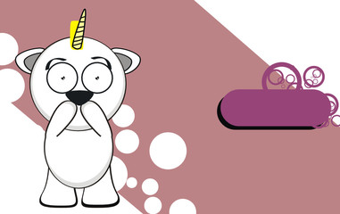 unicorn baby cute cartoon background2