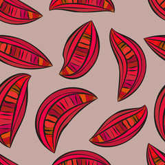 Abstract slices look like guava seamless pattern