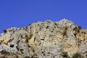 Rocks in mountains on the island of Crete, Greece