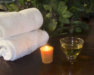 Candle towels and Tea