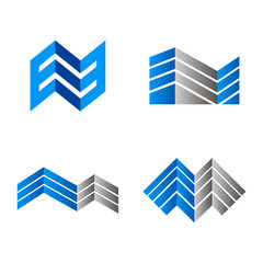 abstract construction geometry vector set
