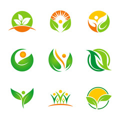 ecology health life green logo