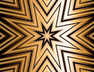 Golden metallic star