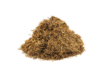 Tobacco on white background