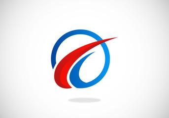 business identity loop direction vector logo