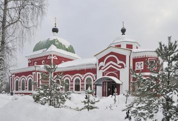 Георгиевская церковь зимним днем. Рыбинск