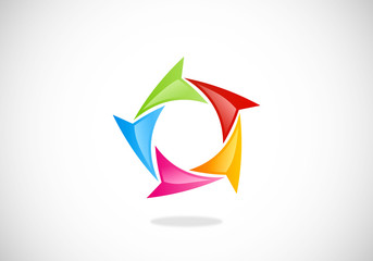 circular triangle loop vector logo