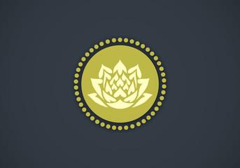 lotus flower decorative vector logo