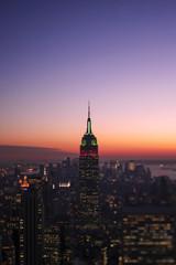 [New York]ニューヨーク・トワイライトのマンハッタン[シフトレンズ・アオリ撮影]