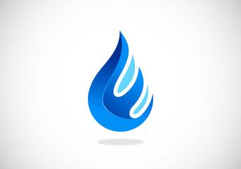 water drop abstract vector logo
