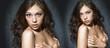 Sexy women in dark studio