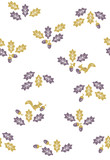 Seamless pattern of acorns and squirrels