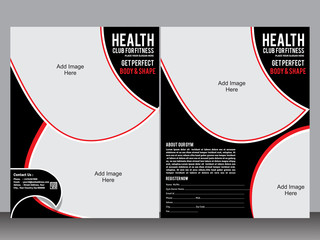 gym designer flyer template