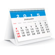 January 2015 desk calendar - vector