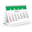 March 2015 desk calendar - vector