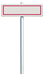 panneau d'entrée de ville sans marquage