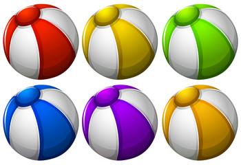 Colourful beachballs